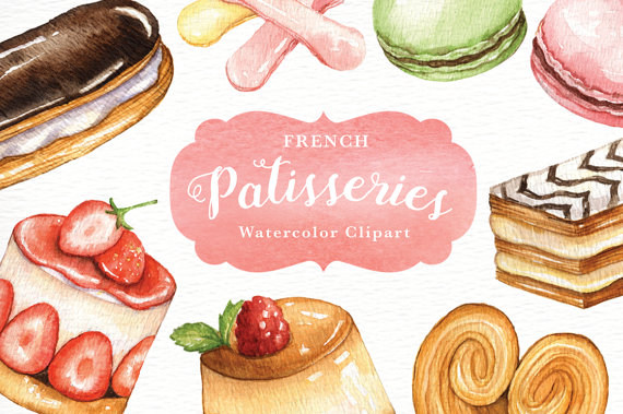 Sweets clipart beignet Everysunsun watercolor macaroon from Studio