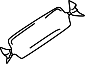 Candy Bar clipart black and white Clip com B&w Art Clip