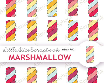 Marshmellow clipart colourful Candy yellow Pink Candy sweets