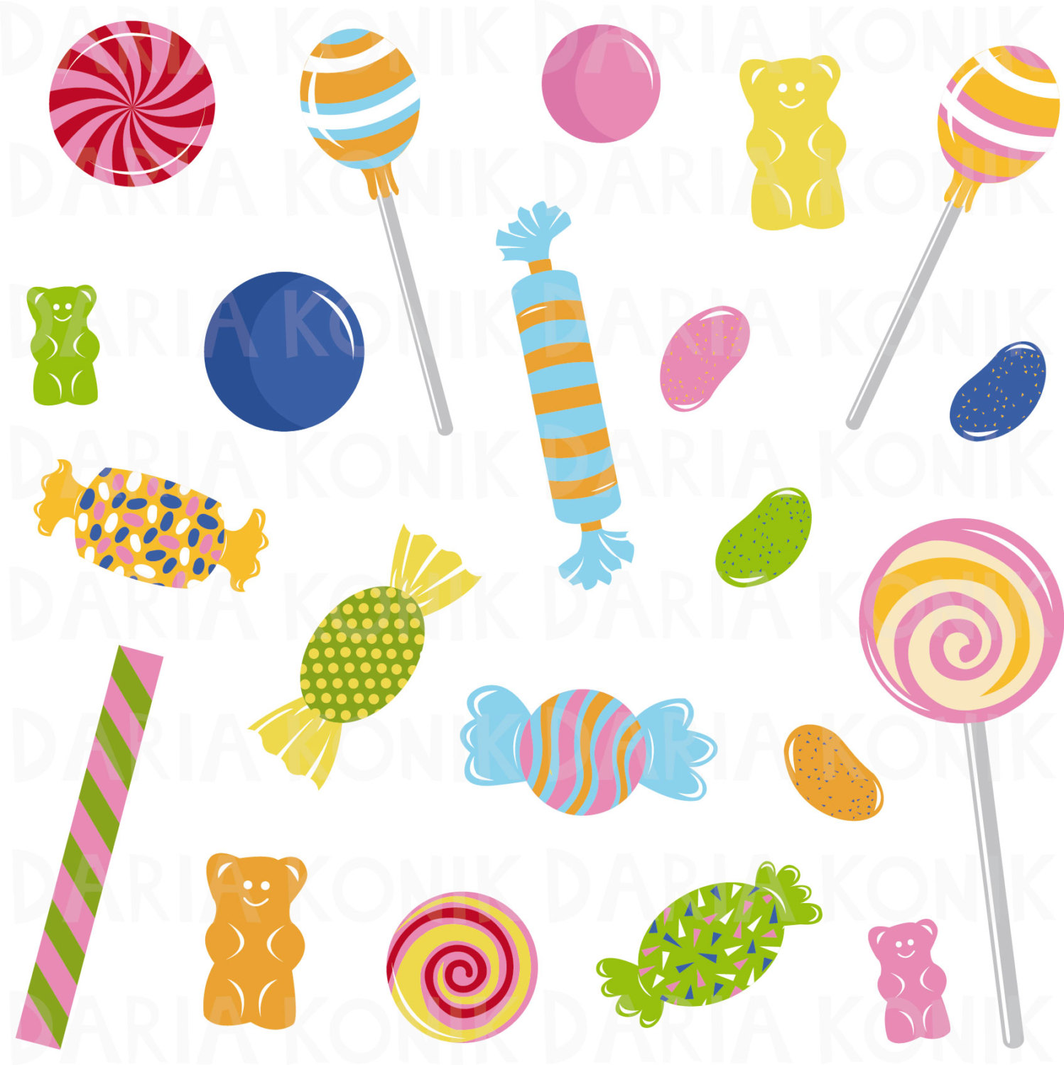 Jelly Bean clipart candy OK I Candy lollipops jelly