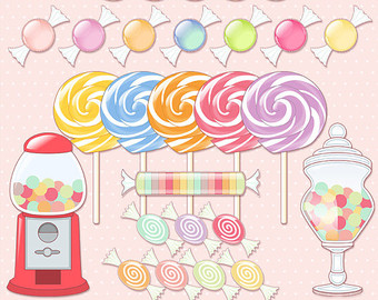 Sweets clipart candy store Jar Sweet candy clipart INSTANT