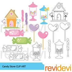 Sweets clipart candy store Clipart jars art Candy Shops