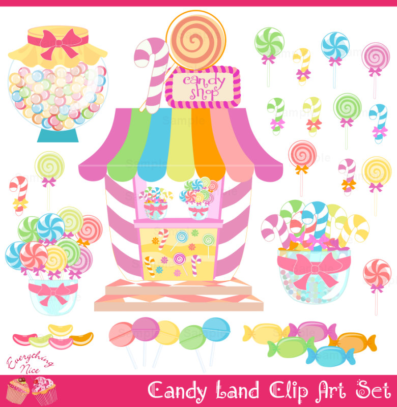 Candy Bar clipart candyland Clip land shop Set Art