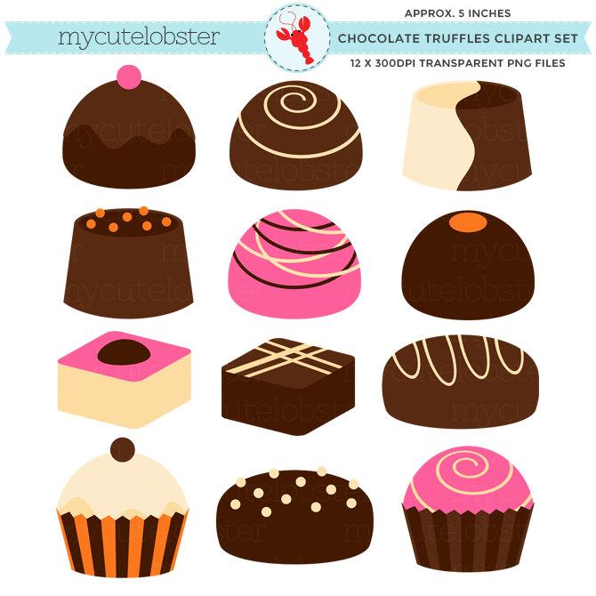 Chocolate clipart chocolate truffle Candy Truffles set candy truffle