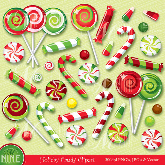 Candy Cane clipart christmas item Download  Illustrations Vector HOLIDAY