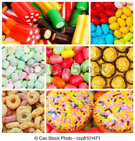 Sweets clipart collage Sweets Clip of of Search