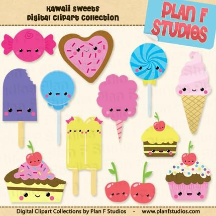 Sweets clipart collage Art Kawaii Art Sweets art