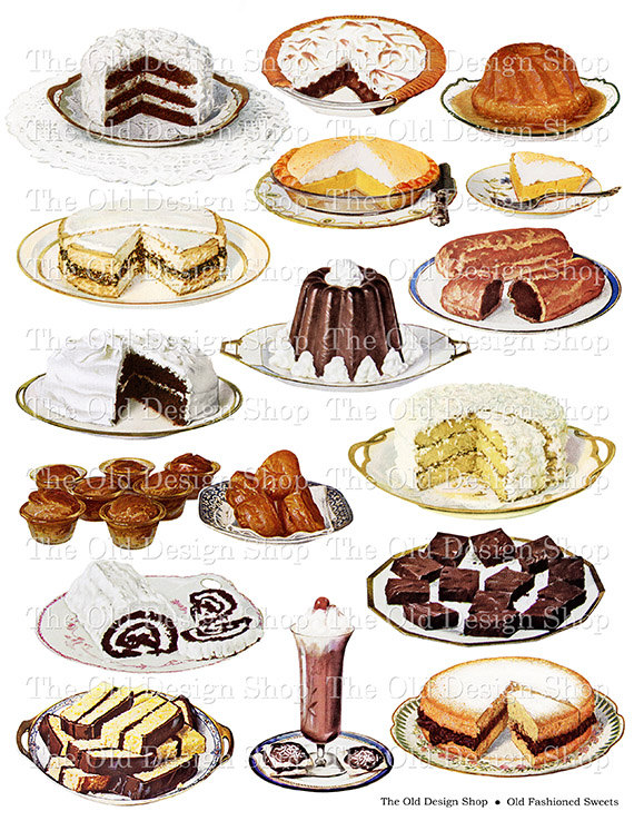 Sweets clipart collage Old Food this Digital Like