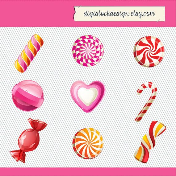 Sweets clipart colorful candy 80 images Pinterest Candy on
