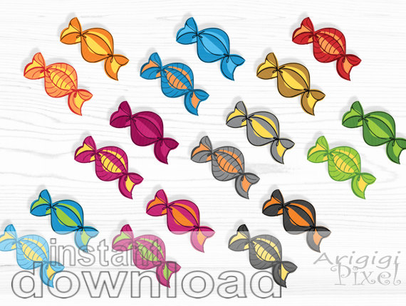 Sweets clipart colorful candy  candies instant download sweets