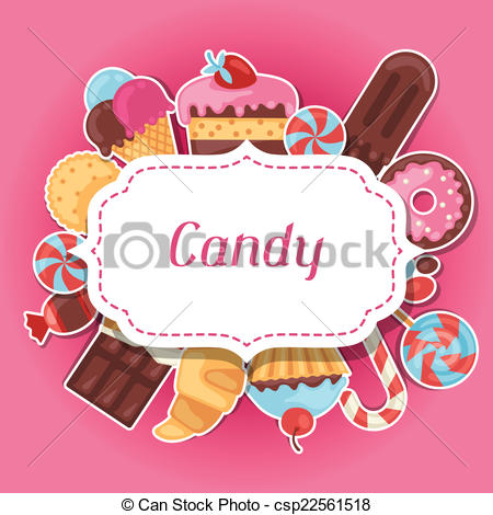 Sweets clipart colorful candy Cakes Art Background candy with