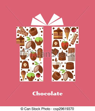 Sweets clipart different object And illustration card food object
