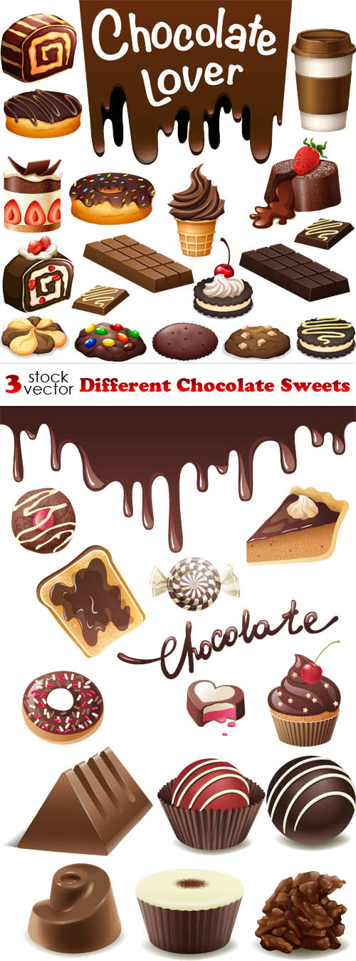 Sweets clipart different object Chocolate  Vectors Different Chocolate