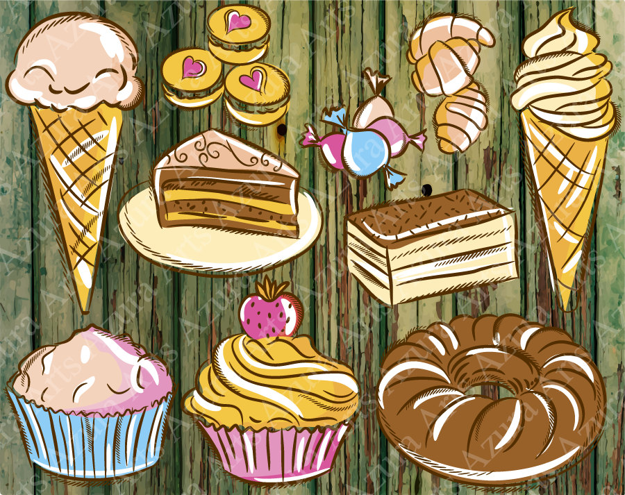Sweets clipart food item ArtIcecream  SweetsSweets Hand Clip