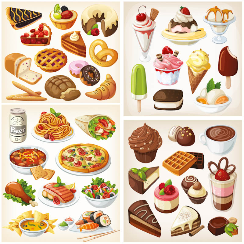 Sweets clipart food item  Free Free Food Clip