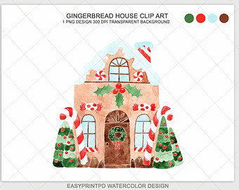 Watermelon clipart watercolor Watercolor Gingerbread Candy Clipart clipart
