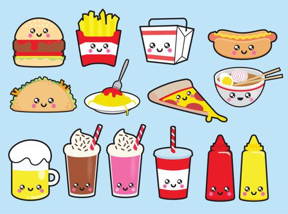 Pizza clipart junk food Kawaii Kawaii Kawaii Food