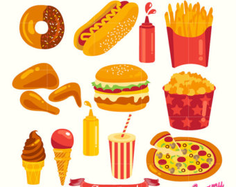 French Fries clipart fast food Digital Party Digital Illustration Vector