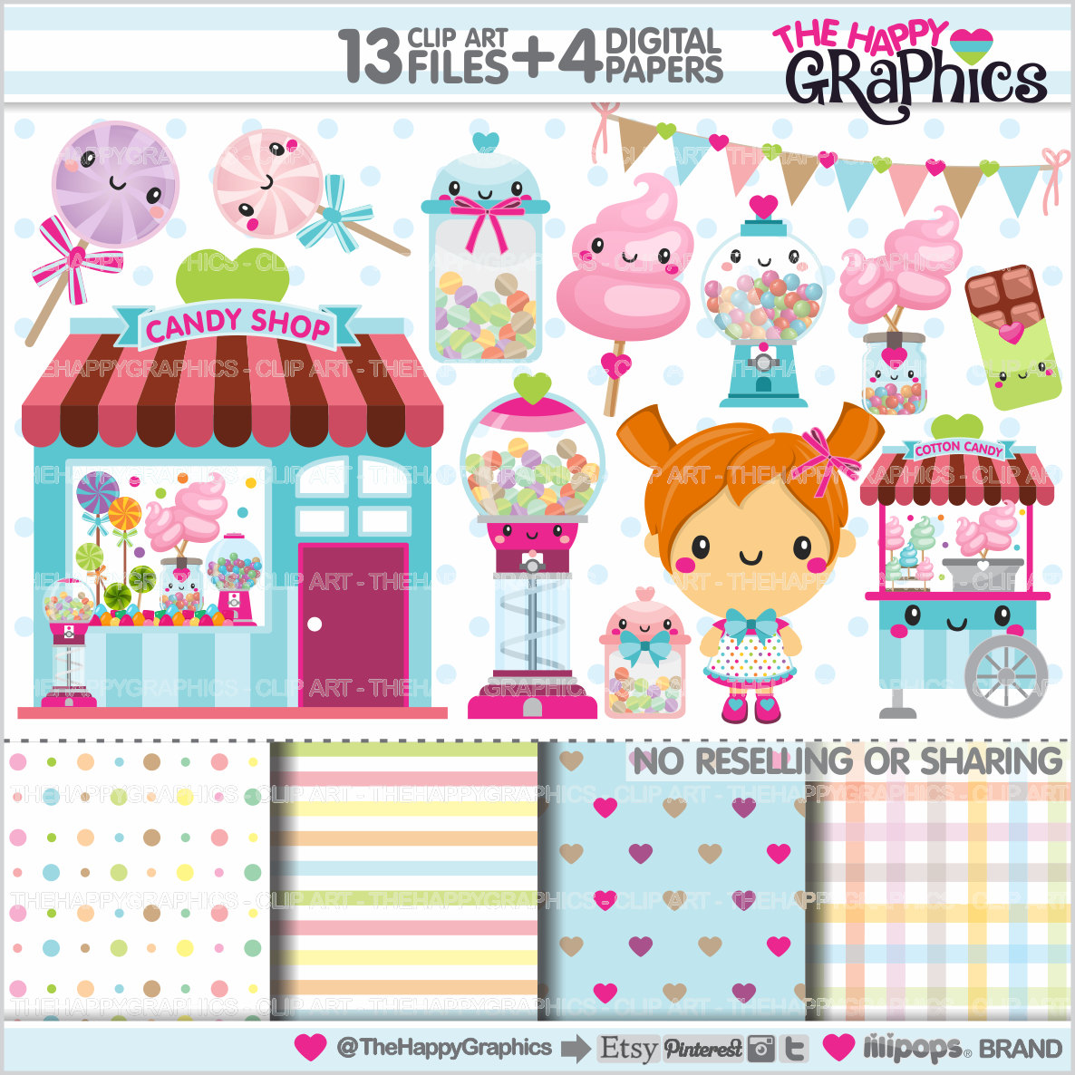 Sweets clipart kawaii Shop Clipart Candy Graphics USE