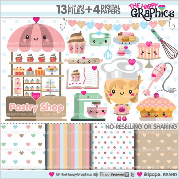 Sweets clipart kawaii Pastry Clipart Planner USE Graphics