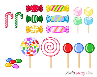 Marshmellow clipart colourful #1