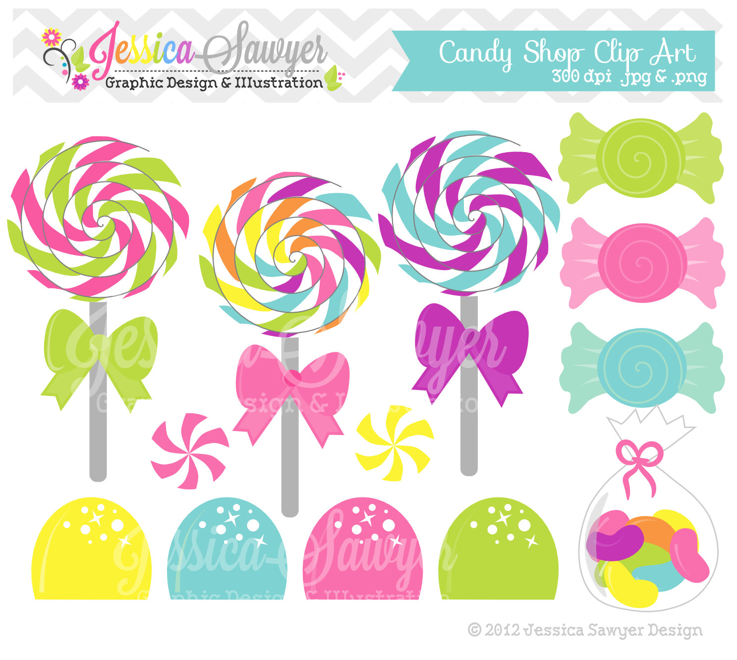 Candy clipart lollipop Candy INSTANT shop Birthday Art
