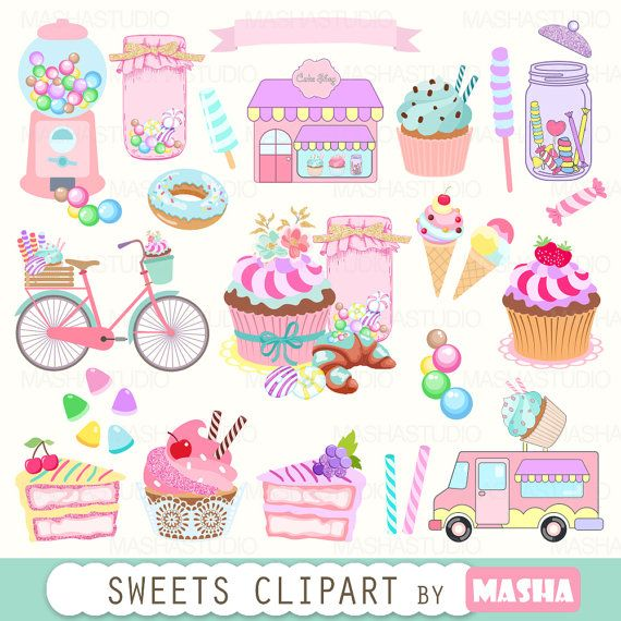 Muffin clipart candies SWEETS Best cupcake by clipart:
