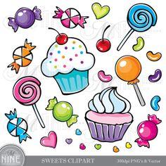 Sweets clipart mini cupcake Instant Art Art Lollipops Download