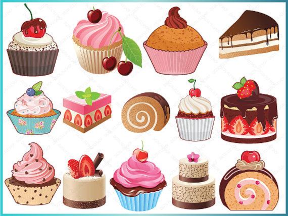 Sweets clipart mini cupcake Sweets DigitalFileShop ClipArt Cupcakes Bakery