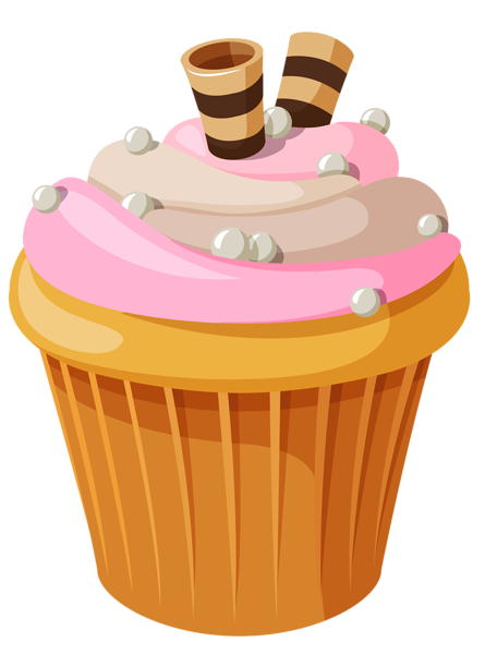 Sweets clipart mini cupcake Pink Cake Cream Clipart with
