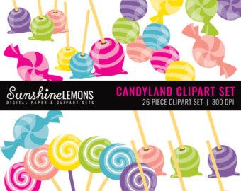 Sweets clipart movie candy Art Set Etsy Set Lollipop