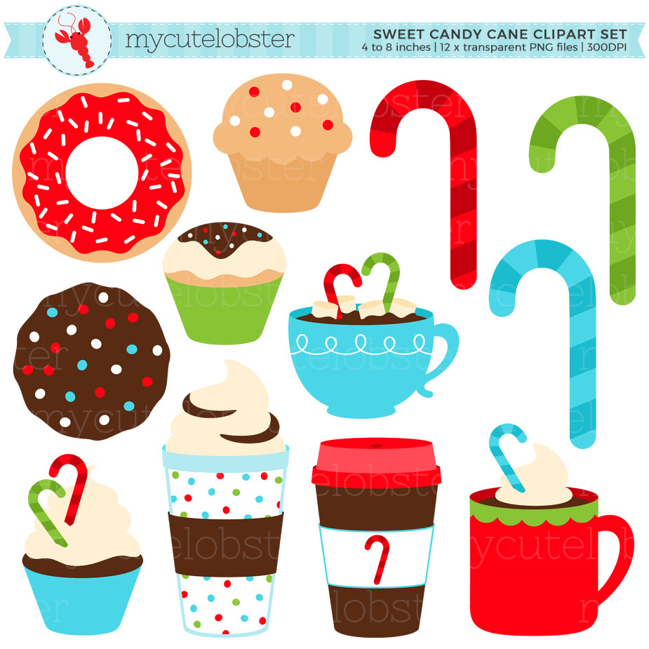Candy Cane clipart christmas item Candy Christmas Set Clipart Candy