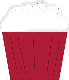 Icing clipart red cupcake Art Velvet Cupcake Image Cupcake
