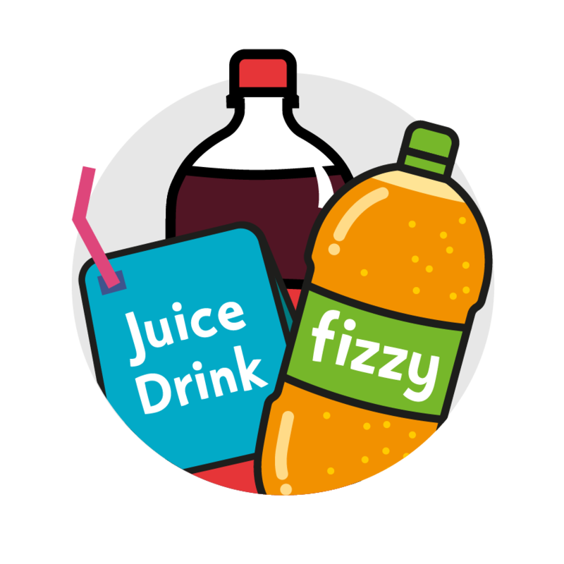 Sweets clipart snack drink Drinks juice Fizzy and Change4Life