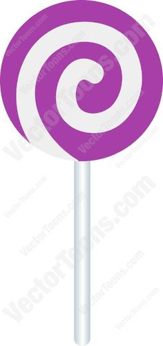 Lollipop clipart purple Lollipop Swirled Purple Cartoon Clipart