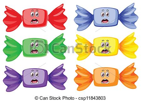 Sweets clipart toffee Toffees on illustration Clipart