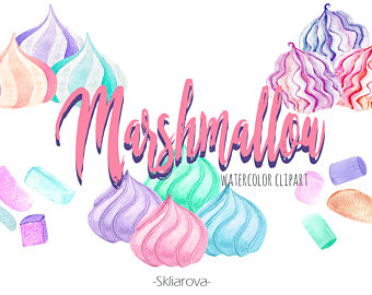 Marshmellow clipart sweet Sweets clipart Food Sweet treat