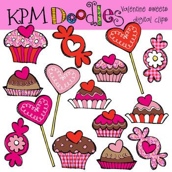Sweets clipart valentine's day By KPM Doodles Clip etc
