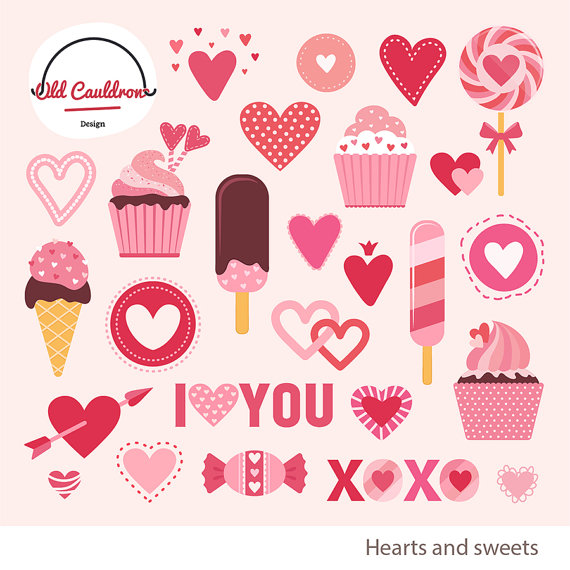 Sweets clipart valentine's day Clipart  clipart Valentine's hearts