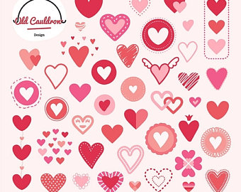 Sweets clipart valentine's day Hearts CL018 clipart Valentine's Valentine
