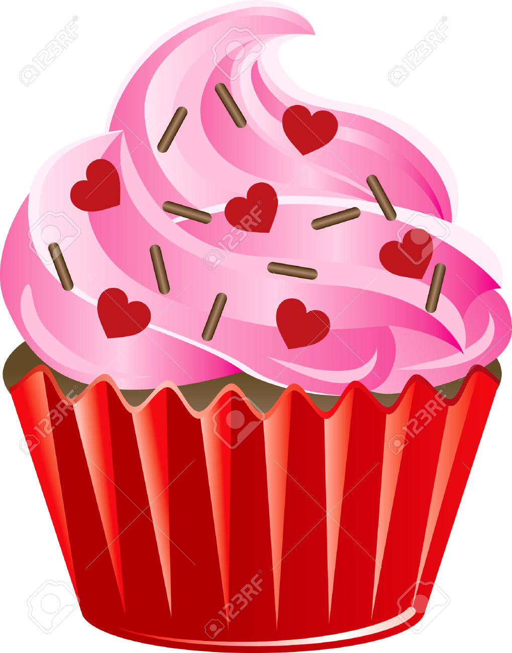 Sweets clipart valentine's day 15 Valentine Cupcake Art 101