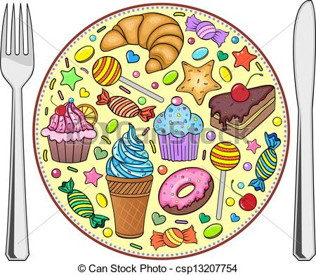 Sweets clipart vector Vector in sweets the of