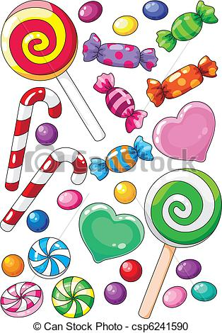 Sweets clipart vector Of Sweet EPS clipart Clipartby