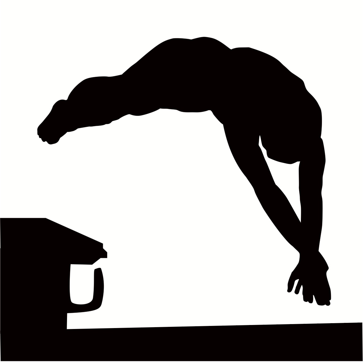 Diving clipart black and white Free Kid and Clipartix clipart