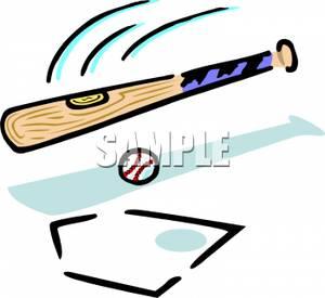 Swing clipart baseball bat A Swinging Bat At Ball