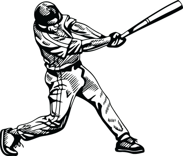 Baseball clipart baseball hit (5219) Graphic Gifts Clip Baseball