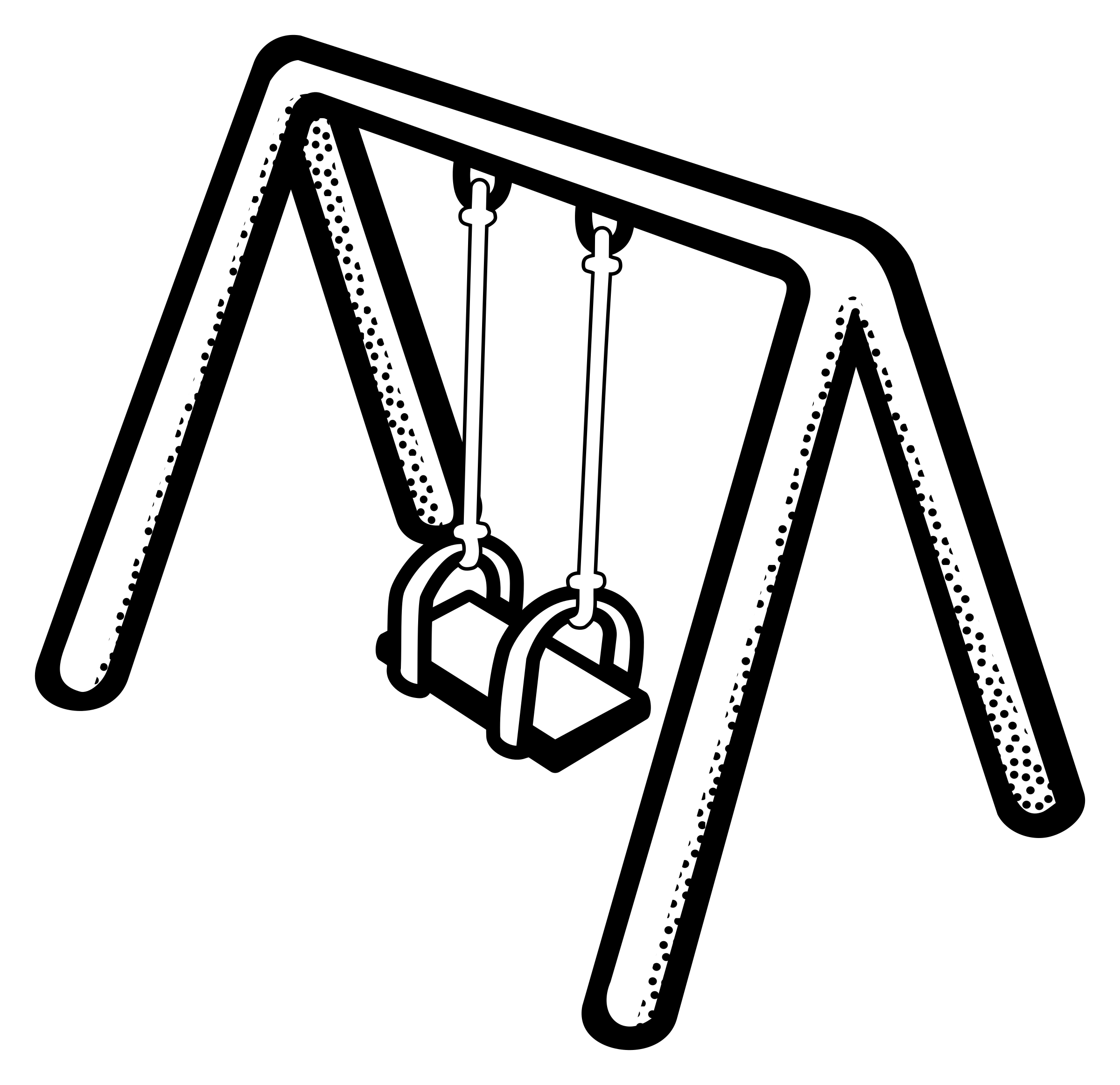 Swing clipart black and white Clip Free Clipart Art Swing