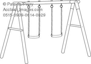 Swing clipart black and white Art Illustration Swing Illustration Clip