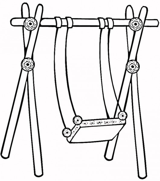 Swing clipart black and white Swing Clipart  Free And