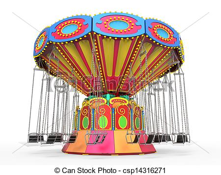 Carousel clipart swing Illustrations Stock Ride Swing isolated